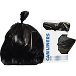 "Unisan Low Density Black Trash Bags, 45 Gallon, 1.5 Mil, 40"" X 46"", Carton of 100"