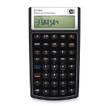 HP 10BII Financial Calculator, Algebraic, Numeric, 12 Digit, Soft Case