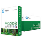 HP Recycled Copy Paper, 8 1/2 x 11 (Letter), 92 Bright, 20 lb, 500 Sheets Per Ream, Case of 10 Reams