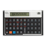 "HP 12CPT Financial Calculator, 5 1/10""x3 1/10""x3/5, Platinum"