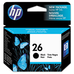 HP 26 Black Ink Cartridge ,Model 51626A ,Page Yield 400