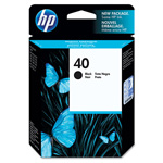 HP 40 Black Ink Cartridge ,Model 51640A ,Page Yield 300