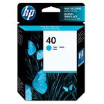 HP 40 Cyan Ink Cartridge ,Model 51640C ,Page Yield 1400