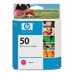 HP 50 Magenta Ink Cartridge ,Model 51650M ,Page Yield 3x1,000