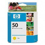 HP 50 Yellow Ink Cartridge ,Model 51650Y ,Page Yield 1400