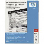 "HP 92296T Laser Jet Monochrome Transparency Film, 8 1/2"" x 11"""