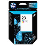 HP 23 Cyan / Magenta / Yellow Inkjet Cartridge, Model C1823D, 620PGS Page Yield