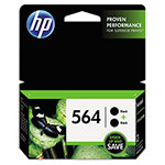 HP C2P51FN140 (HP 564) Ink, Black, 4000 Page Yield, 2 per Pack