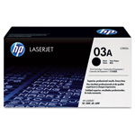HP 03A Black Toner Cartridge, Model C3903A, Page Yield 4000