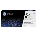 HP 92A Black Toner Cartridge, Model C4092A, Page Yield 2700