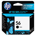 HP 56 Black Inkjet Cartridge, Model C6656AN, 450PGS Page Yield