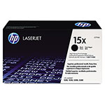 HP 15X Black Toner Cartridge, Model C7115X, Page Yield 3500