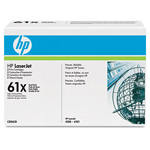 HP 61X Black Toner Cartridge, Model C8061D, Page Yield 2x10,000