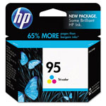 HP 95 Cyan / Magenta / Yellow Inkjet Cartridge, Model C8766WN140, 330 Page Yield