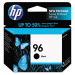HP 96 Black Inkjet Cartridge, Model C8767WN140, 860 Page Yield