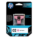 HP 02 Magenta Inkjet Cartridge, Model C8775WN, 230PGS Page Yield