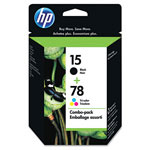 HP 15 Black and Cyan/Magenta/Yellow Ink Cartridge ,Model C8789FN ,Page Yield 4000