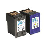 HP 27 Black and 28 Black / Cyan / Magenta / Yellow Inkjet Cartridge, Model C9323FN, 220PGS Page Yield