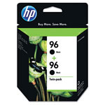 HP 96 Black Ink Cartridge, C9348FN, 860 Page-Yield