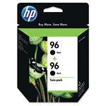 HP C9348FN No. 96 Black Ink CartridVivera Twin-Pack, 800 Pages