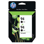 HP 94 Black Inkjet Cartridge, Model C9350FN, 450PGS Page Yield