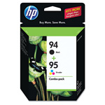 HP 94 Black and Cyan/Magenta/Yellow Ink Cartridge ,Model ,Page Yield 480