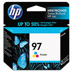 HP C9363WN No. 97 High Yield Tri-Color Print Cartridge, 560 Pages