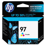 HP 97 Cyan / Magenta / Yellow Inkjet Cartridge, Model C9363WN140, 560 Page Yield
