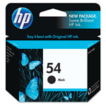 HP 54 Black Ink Cartridge ,Model CB334AN ,Page Yield 41500