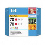 HP 70 Red Ink Cartridge ,Model CB347A ,Page Yield 20000