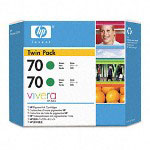 HP 70 Green Ink Cartridge ,Model CB348A ,Page Yield 24000