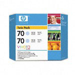 HP 70 Cyan Ink Cartridge ,Model CB351A ,Page Yield 3300