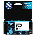 HP 920 Black Ink Cartridge ,Model CD971AN ,Page Yield 420