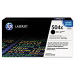 HP 504X Black Toner Cartridge, Model CE250X, Page Yield 10500