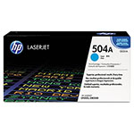 HP 504A Cyan Toner Cartridge, Model CE251A, Page Yield 7000