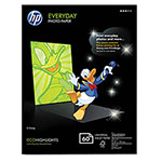 HP Everyday Photo Paper, Glossy, 5 x7, 50 Sheets/Pack