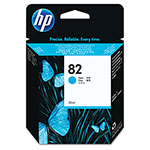 HP HP82 Cyan Inkjet Cartridge, Model CH566A