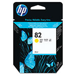 HP HP82 Yellow Inkjet Cartridge, Model CH568A