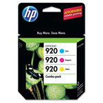 HP 920 Cyan/Magenta/Yellow Ink Cartridge, Model CN066FN, Page Yield 900