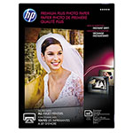 HP Premium Plus Photo Paper, 80 lbs., Glossy, 5 x 7, 60 Sheets/Pack