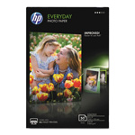 "HP Everyday Glossy Photo Paper, 53 lbs., 4"" x 6"", 50 Sheets per Pack"