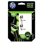 HP Inkjet Cartridge, 165 Page Yield, 2/PK, Tri-Color