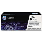 HP 12A Black Toner Cartridge, Model Q2612A, Page Yield 2000