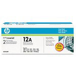 HP 12A Black Toner Cartridge ,Model Q2612AD ,Page Yield 500