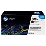 HP 308A Black Toner Cartridge, Model Q2670A, Page Yield 6000