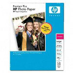 HP Premium Plus Photo Paper, Soft Gloss, 8 1/2 x 11, 50 Sheets/Pack