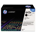 HP 643A Black Toner Cartridge, Model Q5950AG, Page Yield 11000