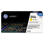 HP 314A Yellow Toner Cartridge, Model Q7562A, Page Yield 3500