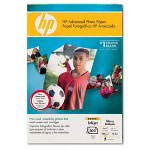 "HP Advanced Photo Paper, Glossy, 4 x 6"" with tab, 100 Sheets/Pack"