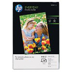 HP Everyday Semi-Gloss Photo Paper, 45 lbs., Semi-Gloss, 4 x 6, 50 Sheets/Pack